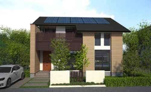太陽光発電のある家