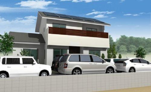 太陽光発電搭載 3世帯の家