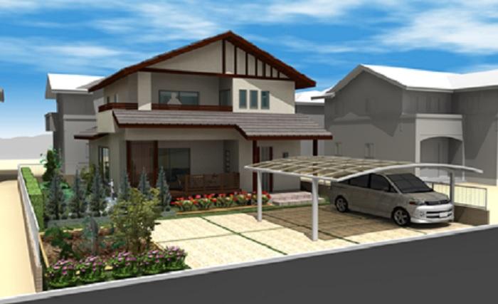 小屋裏収納のある和風モダン住宅